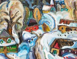 Artwork by Pierre Bédard, Bleus d'hiver