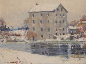 Artwork by Manly Edward MacDonald, Shannonville Mill, Salmon River