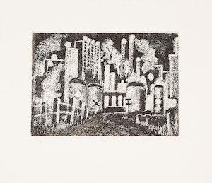 Artwork by John Harold Thomas Snow, Refinery; Vestia; Waterfront; Studio