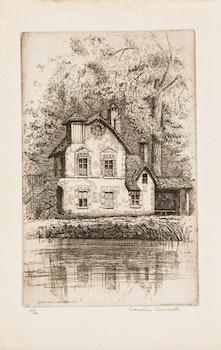 Artwork by Caroline Helena Armington, Le Petit Moulin à Versailles; Rue de L'Arc Constantine