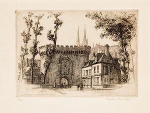 Artwork by Caroline Helena Armington, Le porte Guillaume et vieilles maisons à Chartres; Santa Maria Della Salute Venice