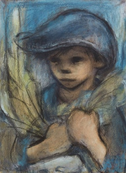 Artwork by Phyllis Hipwell Janes, Young Boy