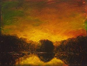 Artwork by David Bierk, Olana Pond, to Church