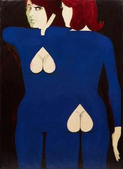 Artwork by Thomas Sherlock Hodgson, Double Portrait of a Woman