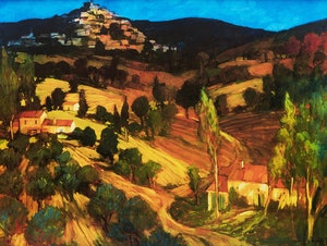 Artwork by Philip Craig, Italian Landscape