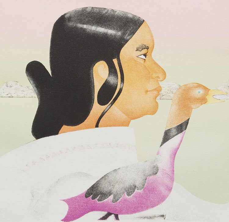 Artwork by Joyce Wieland,  Soroseelutu, Artist of Cape Dorset