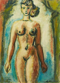 Artwork by André Jasmin, Female Nude