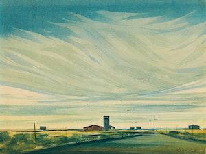 Artwork by Robert N. Hurley, Prairie Landscape