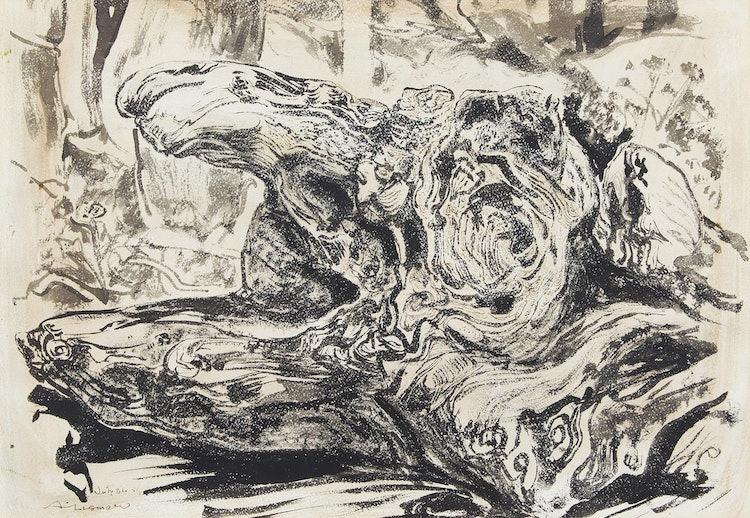 Artwork by Arthur Lismer,  Tree Stump