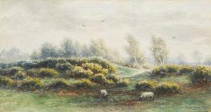 Artwork by Frederick Arthur Verner, Pastoral Scene