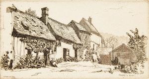 Artwork by Caroline Helena Armington, Ferme a Bizy; La Casa di Desdemona; Le Viaduc et le Loing à Moret