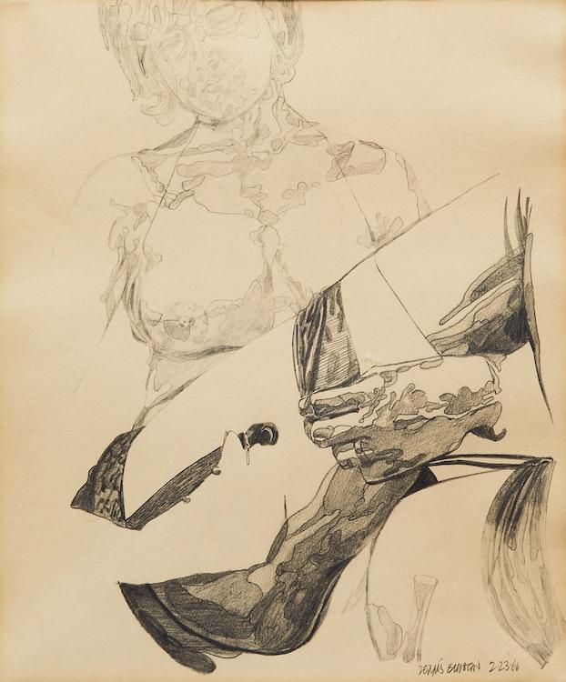 Artwork by Dennis Eugene Norman Burton,  Seated Woman