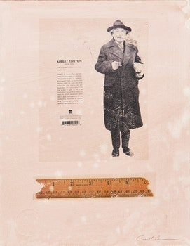 Artwork by Carl Beam, Untitled (Einstein and Ruler)