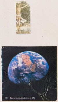 Artwork by Carl Beam, Untitled (Earth from Apollo)