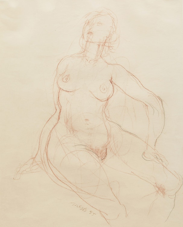 Artwork by Miller Gore Brittain,  Study of a Female Figure
