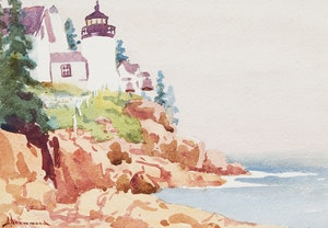 Artwork by Arthur Drummond, Bass Harbour Head, Mount Desert Island, Maine