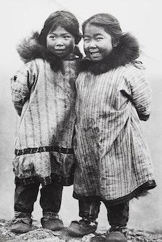 Artwork by Carl and Alfred Lomen, Inuit Children, Alaska