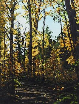 Artwork by Deborah Lougheed Sinclair, Autumn Path