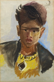Artwork by Karl May, Portrait in Yellow
