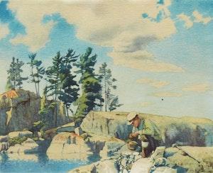 Artwork by Walter Joseph Phillips, The Prospector