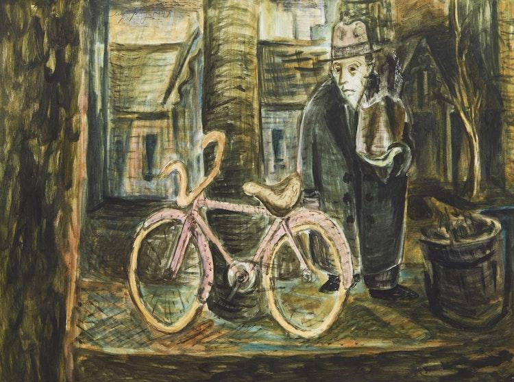 Artwork by Aba Bayefsky,  Man in the Market