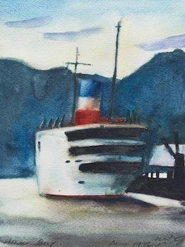 Artwork by Michael Pflug, Howe Bay