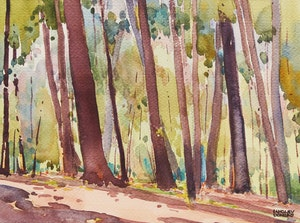 Artwork by Langley Thomas Donges, Through the Trees
