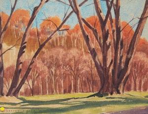 Artwork by David Seaton Smith, Autumn Landscape; Summer Landscape