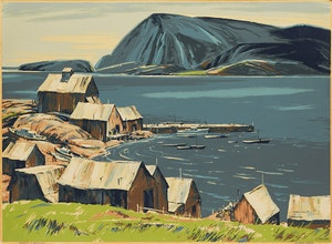 Artwork by Joseph Sidney Hallam, Cape Breton Harbour