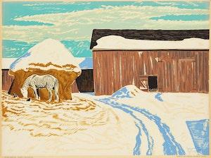 Artwork by Thoreau MacDonald, Winter Morning