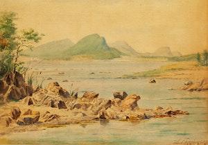 Artwork by Joseph-Charles Franchère, Rivière dans la clairière