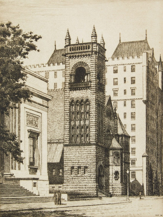 Artwork by Frederick Bourchier Taylor,  Erskine and American Church