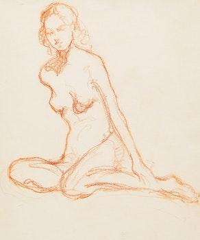 Artwork by Manly Edward MacDonald, Nude Portrait