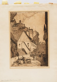 Artwork by Stanley Francis Turner, Three Works: Lower Town, QC; Notre Dame des Victoires, QC; Untitled