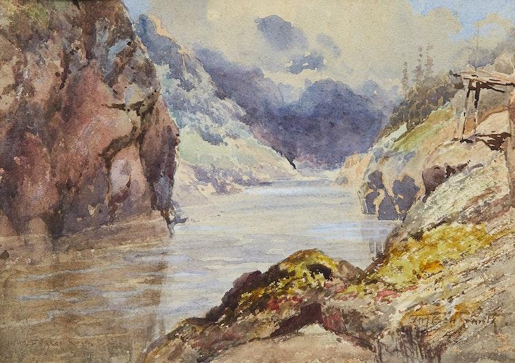 Artwork by Frederic Marlett Bell-Smith,  Fraser River, B.C.