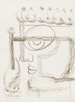 Artwork by Gerald Milne Moses, Thirty Abstract Figures and Faces