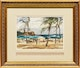 Thumbnail of Artwork by Frank Leonard Brooks,  Sun Catchers on the Beach; By the Shore