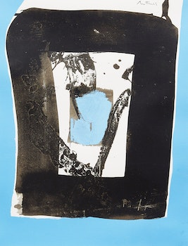Artwork by Robert Motherwell, Basque Suite C (Belknap 55; Engberg & Banach 84)