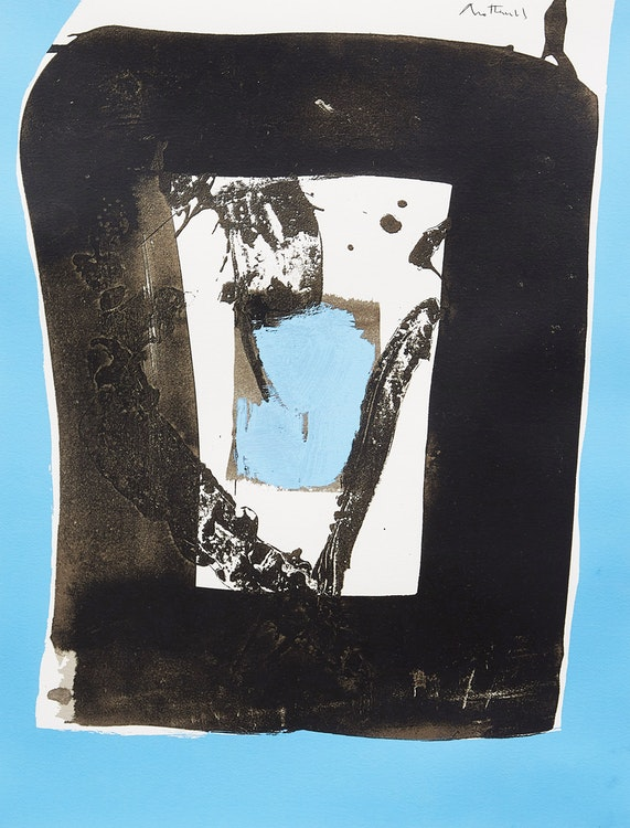 Artwork by Robert Motherwell,  Basque Suite C (Belknap 55; Engberg & Banach 84)