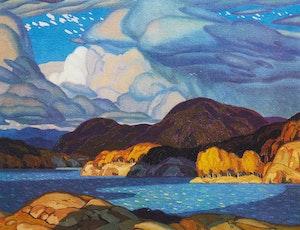 Artwork by Alfred Joseph Casson, October Sky