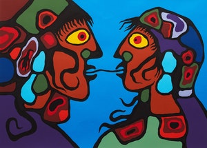 Artwork by Norval Morrisseau, Look Within Ourselves