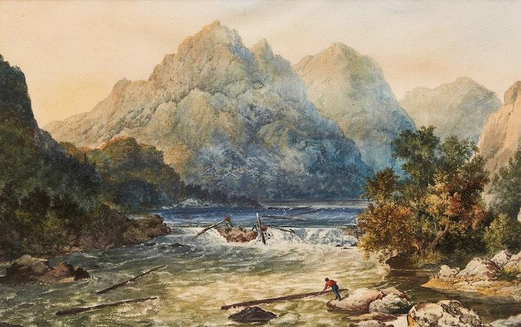 Artwork by  19th Century Canadian School,  Rapids, Saguenay River