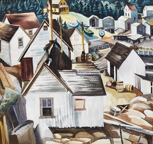 Artwork by Peter Haworth, Fisherman's Cove, Gaspe