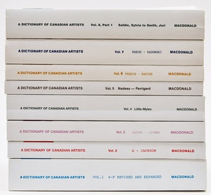 Artwork by  Books and Reference, A Dictionary of Canadian Artists Vol. 1-8 Part 1