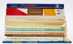 Artwork by  Books and Reference, Nine Books and Catalogues on Canadian Art Collections
