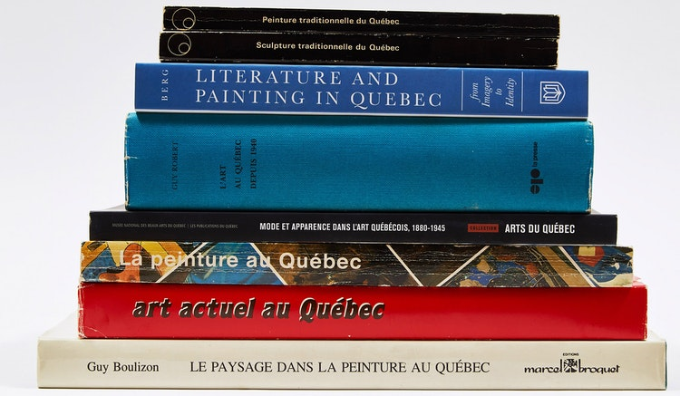 Artwork by  Books and Reference,  Eight Publications on Quebec Art