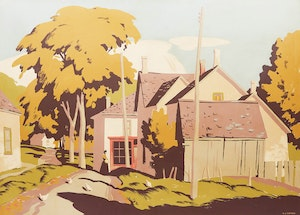 Artwork by Alfred Joseph Casson, Ontario Village