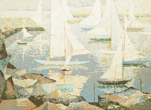 Artwork by Hilton MacDonald Hassell, Descending Sails