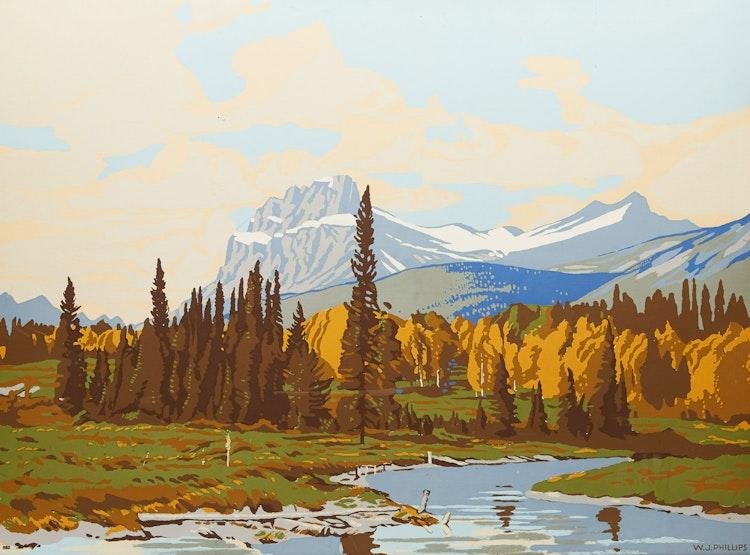 Artwork by Walter Joseph Phillips,  Mount Eisenhower