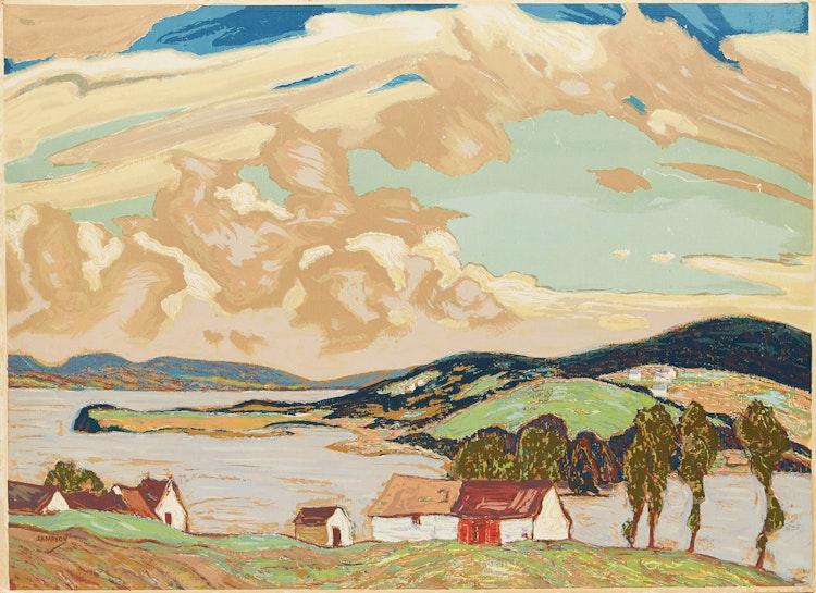 Artwork by Joseph Ernest Sampson,  Gaspé